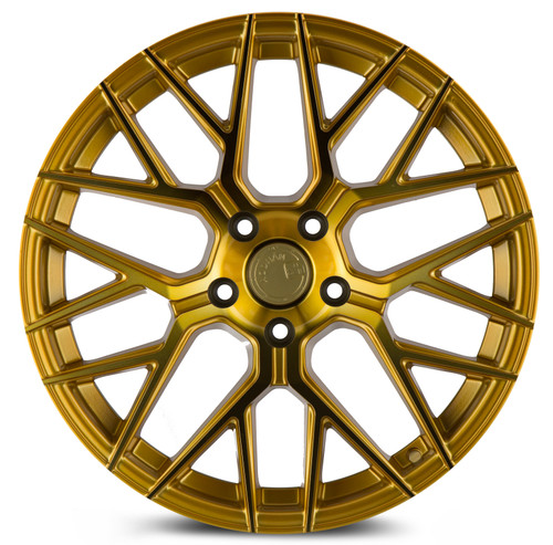 Aodhan Wheels LS009 18x8.0 5x114.3 +35 Gold Machined Face