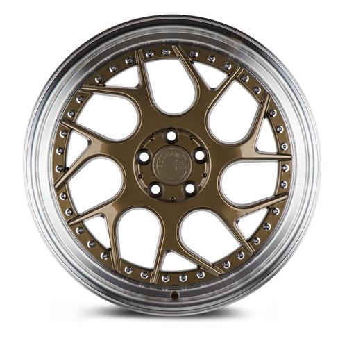 Aodhan Wheels Ds01 18x8.5 5x100 +35 Bronze w/Machined Lip