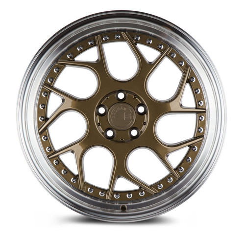 Aodhan Wheels Ds01 18x8.5 5x114.3 +35 Bronze w/Machined Lip