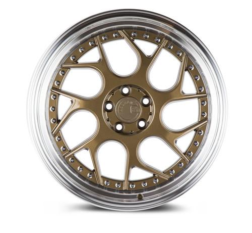 Aodhan Wheels Ds01 18x9.5 5x114.3 +30 Bronze w/Machined Lip