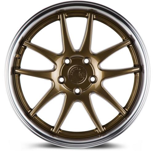 Aodhan Wheels Ds02 18x8.5 5x114.3 +35 Bronze w/Machined Lip