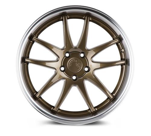Aodhan Wheels Ds02 18x9.5 5x114.3 +30 Bronze w/Machined Lip