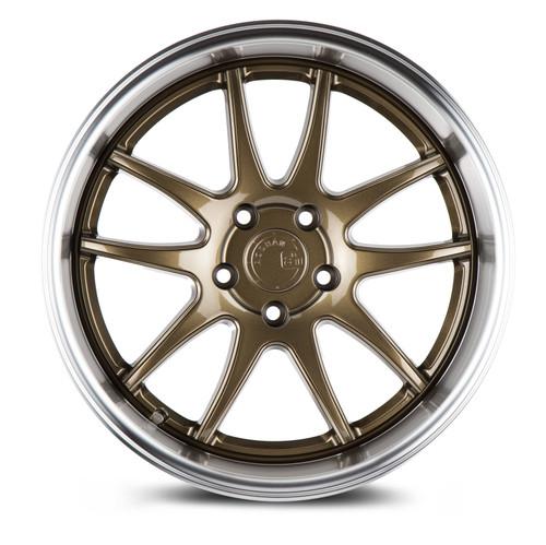 Aodhan Wheels Ds02 18x10.5 5x114.3 +15 Bronze w/Machined Lip