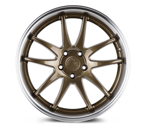 Aodhan Wheels Ds02 19x9.5 5x114.3 +15 Bronze w/Machined Lip