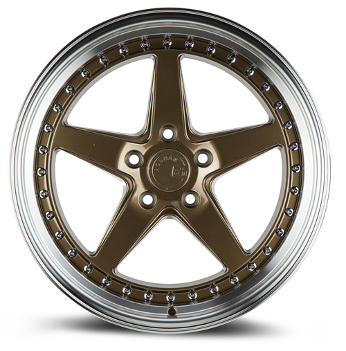 Aodhan Wheels Ds05 18x8.5 5x114.3 +35 Bronze w/Machined Lip