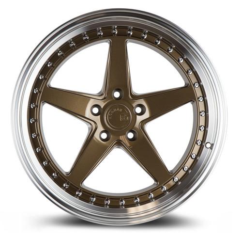 Aodhan Wheels Ds05 18x9.5 5x114.3 +15 Bronze w/Machined Lip