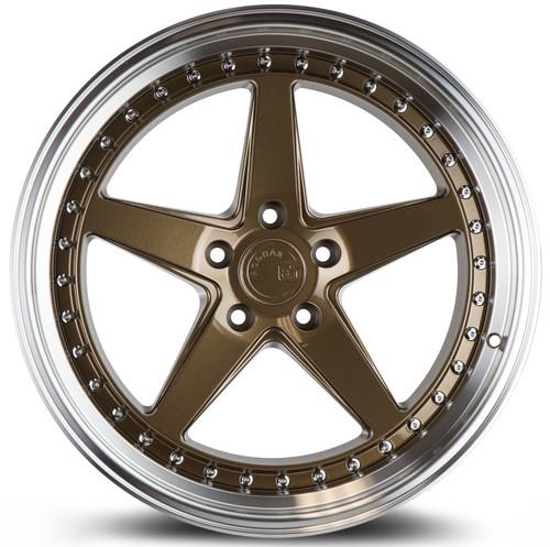 Aodhan Wheels Ds05 19x9.5 5x114.3 +22 Bronze w/Machined Lip
