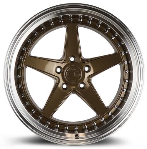 Aodhan Wheels Ds05 19x11 5x114.3 +22 Bronze w/Machined Lip