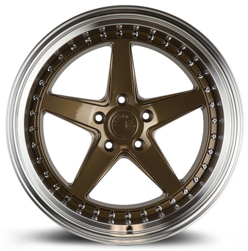 Aodhan Wheels Ds05 19x11 5x114.3 +15 Bronze w/Machined Lip