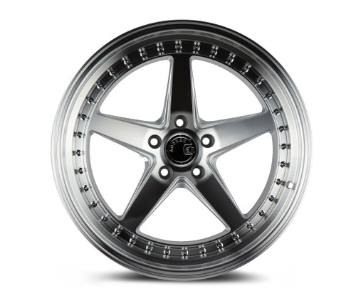 Aodhan Wheels Ds05 18x9.5 5x114.3 +15 Silver w/Machined Face