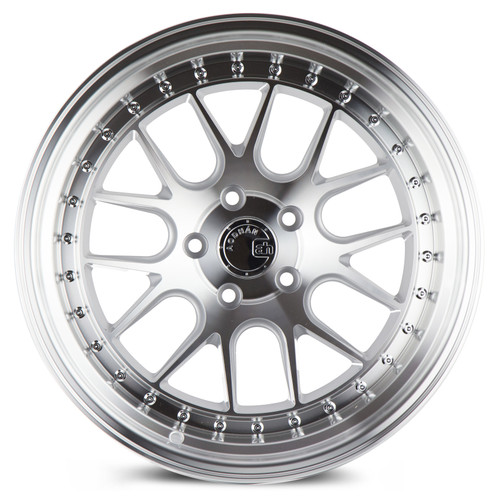 Aodhan Wheels DS-06 18x10.5 5x114.3 +22 Silver w/Machined Face