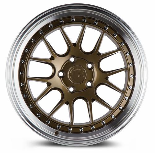 Aodhan Wheels DS-06 18x8.5 5x100 +35 Bronze w/Machined Lip