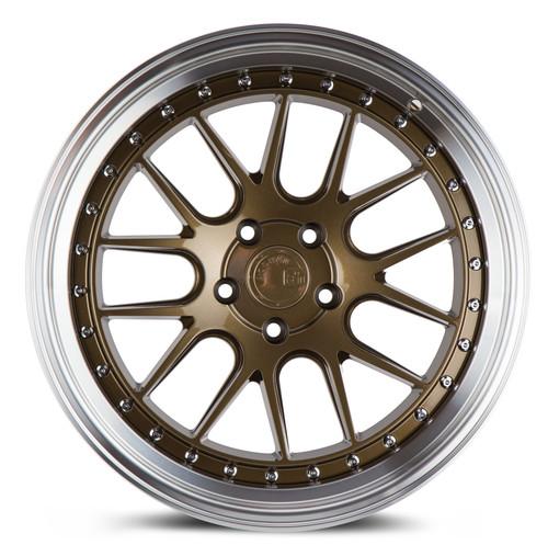 Aodhan Wheels DS-06 19x9.5 5x114.3 +15 Bronze w/Machined Lip