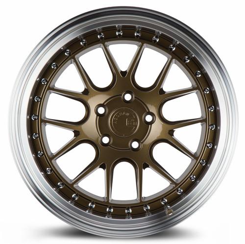 Aodhan Wheels DS-06 19x11 5x114.3 +15 Bronze w/Machined Lip