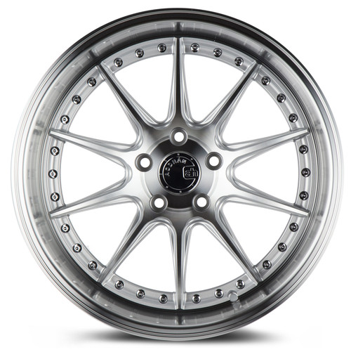 Aodhan Wheels DS-07 18x8.5 5x100 +35 Silver w/Machined Face