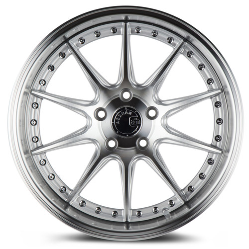 Aodhan Wheels DS-07 18x10.5 5x114.3 +22 Silver w/Machined Face