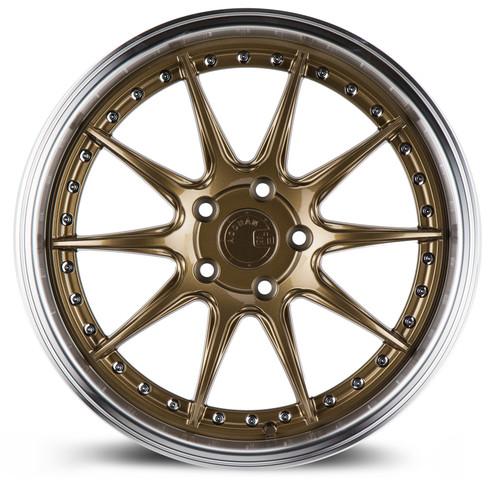 Aodhan Wheels DS-07 18x8.5 5x100 +35 Bronze w/Machined Lip