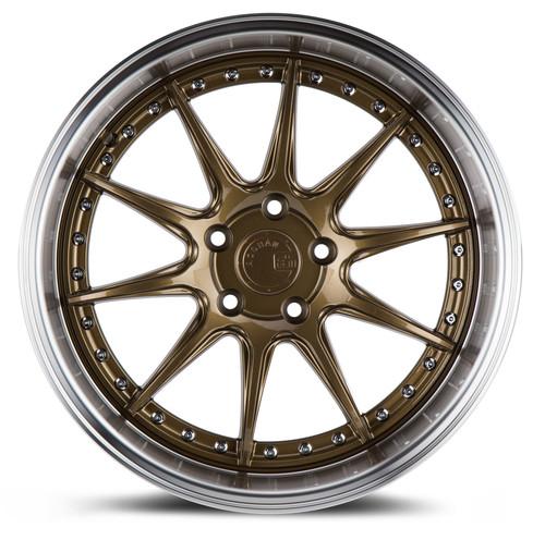 Aodhan Wheels DS-07 18x10.5 5x114.3 +22 Bronze w/Machined Lip