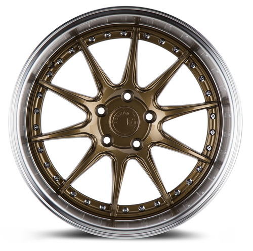 Aodhan Wheels DS-07 19x11 5x114.3 +22 Bronze w/Machined Lip