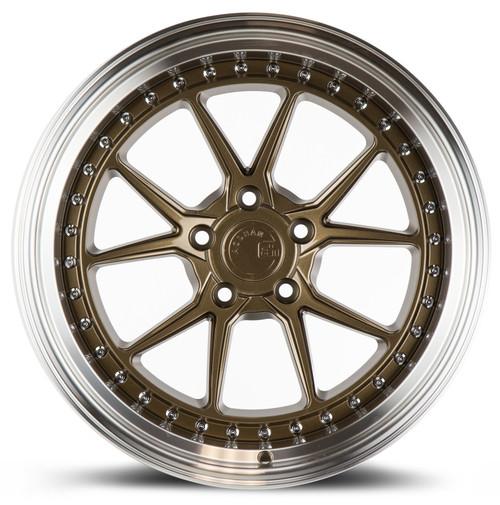 Aodhan Wheels DS08 18x10.5 5x114.3 +22 Bronze w/Machined Lip