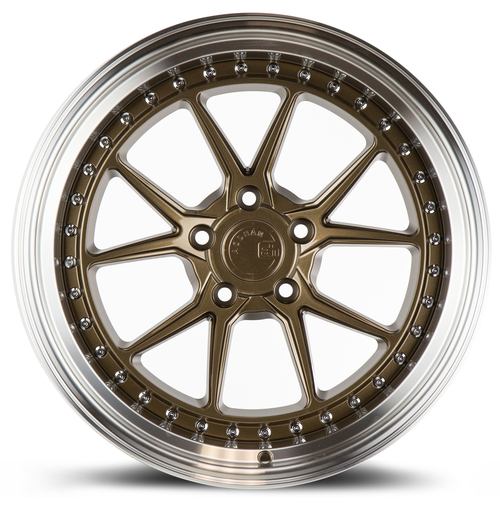 Aodhan Wheels DS08 19x11 5X114.3 +15 Bronze w/Machined Lip