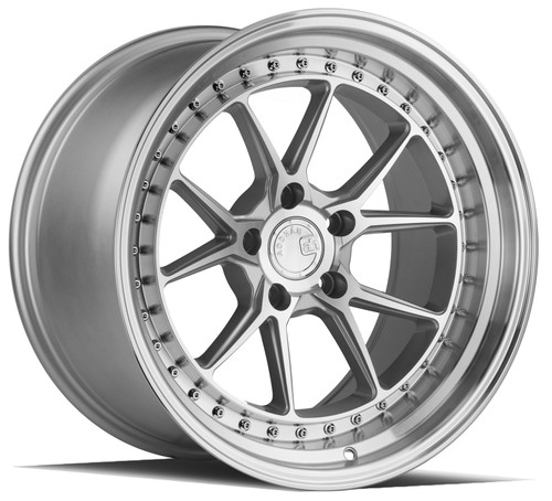 Aodhan Wheels DS08 18x10.5 5x114.3 +22 Silver w/Machined Face