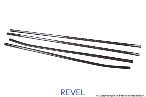 Revel GT Dry Carbon Window Outer Trim (FL, FR, RL, RR) 2015-2018 Subaru WRX / STI *4 PCS
