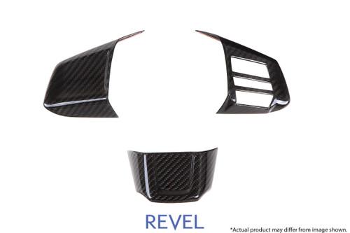 Revel GT Dry Carbon Steering Wheel Insert Covers 2015-2018 Subaru WRX / STI *3 PCS