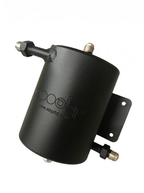 obp Motorsport 35oz (1 Litre) Bulkhead Mount Dark Matter Fuel Swirl Pot With AN Fittings