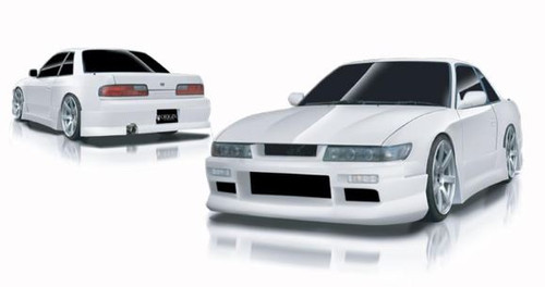 Origin Lab Urban Line Full Aero Kit w/o Door Panels for JDM Front End Nissan 240SX S13 Coupe 89-94