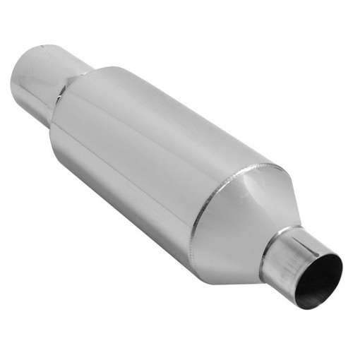"""DC Sports ROUND CANISTER MUFFLER, w/ 4"""" STRAIGHT TIP for Universal Universal Universal"""