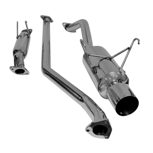 DC Sports SINGLE CANISTER SYSTEM, STAINLESS STEEL CAT-BACK EXHAUST for Honda Civic EX (4 Door only ) 2001-2005