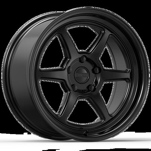 Kansei ROKU Gloss Black 18X9.5 5X114.3 +22mm
