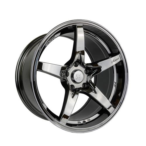 Stage Wheels Monroe 18x9 +22mm 5x120 CB: 73.1 Color: Black Chrome