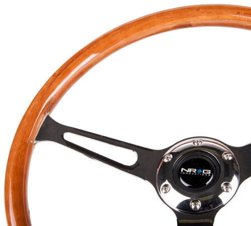 NGR Classic Wood Grain 380mm Steering Wheel