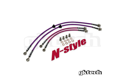 GKTech N-Style Front and Rear Brake Lines for Nissan 240SX S13