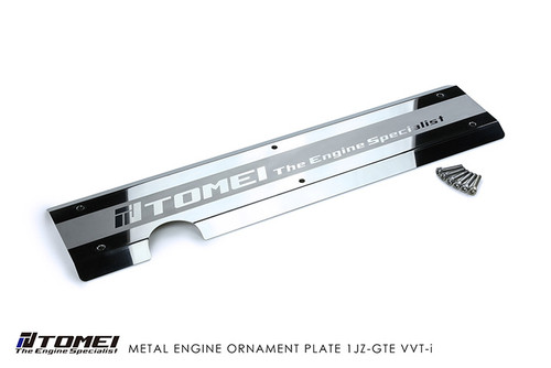 Tomei Metal Engine Ornament Plate for Toyota 1JZ-GTE VVT-i