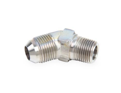 Earls 45 Deg. -8 To 3/8 Npt Adapter Stainless