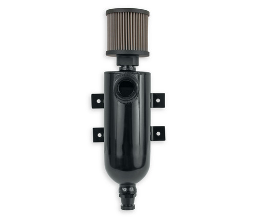 Earls Catch Can W/An O-Ring Inlet & Filter-Blk