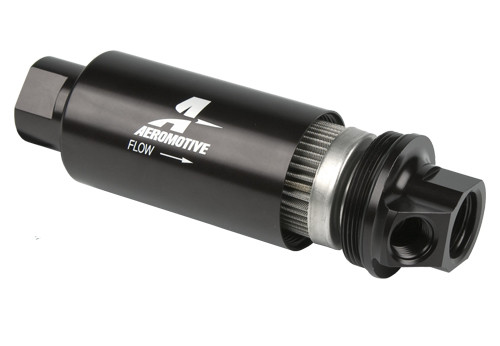 Aeromotive Filter, In-Line AN-10 / AN-06 Dual Outlet