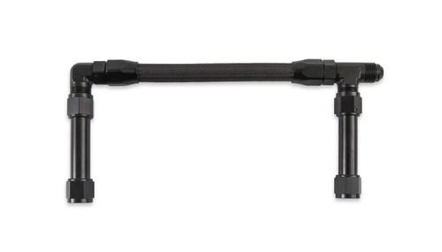 Earls -8An Single Inlet Black W/Pro-Lite Hose