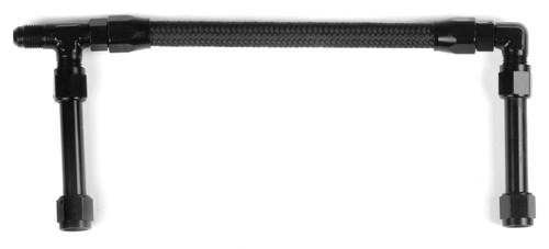 Earls -6An Single Inlet Black W/Pro-Lite Hose