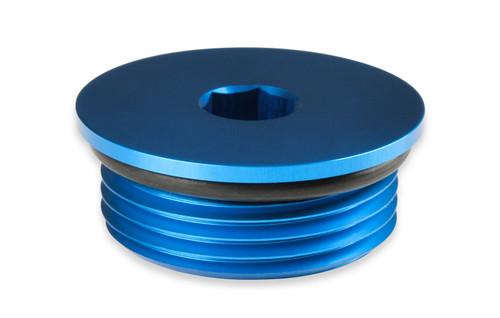 Earls -12An Low Profile Port Plug, Blue