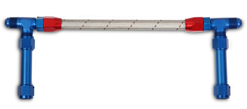Earls -8An Dual Feed W/Stainless Hose -Dominat