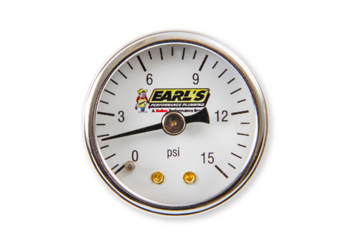 Earls 15 Psi Fuel Pressure Gauge