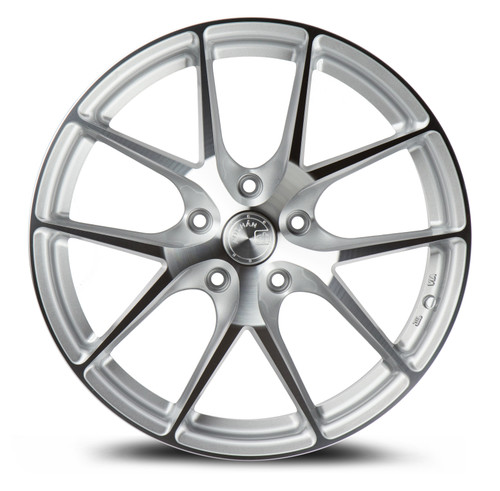 AodHan AFF7 19x9.5 5x120 +35 Gloss Silver Machined Face