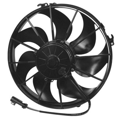 """SPAL 12.00"""" Inch Electric Fan Puller Style Extreme Performance 1870 CFM 7 Curved Style blades"""