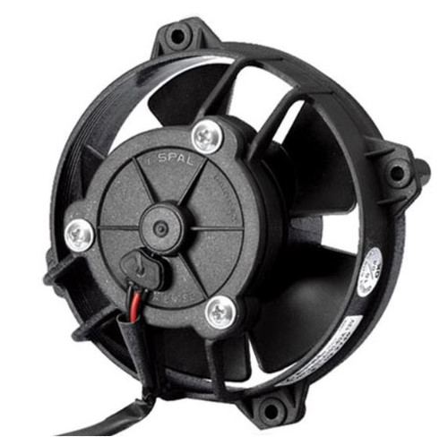 """SPAL 4.00"""" Inch Electric Fan Pusher Style Low Profile 124 CFM 5 Paddle Style blades"""