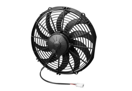 """SPAL 12.00"""" Inch Electric Fan Pusher Style High Performance 1380CFM 10 Curved Style blades"""