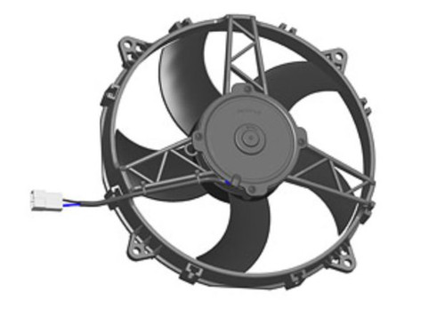 """SPAL 11.00"""" Inch Electric Fan Puller Style Medium Profile 1300CFM 5 Curved Style Blades"""